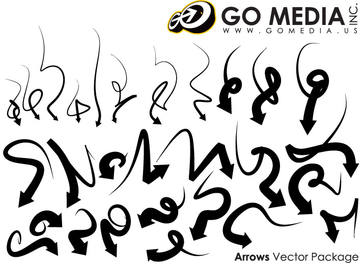 Vá mídia produzida vector material - seta cool