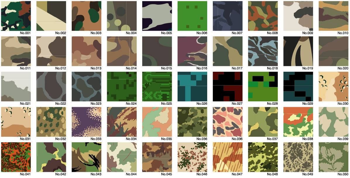 Camuflagem Vector 1 série Diwen