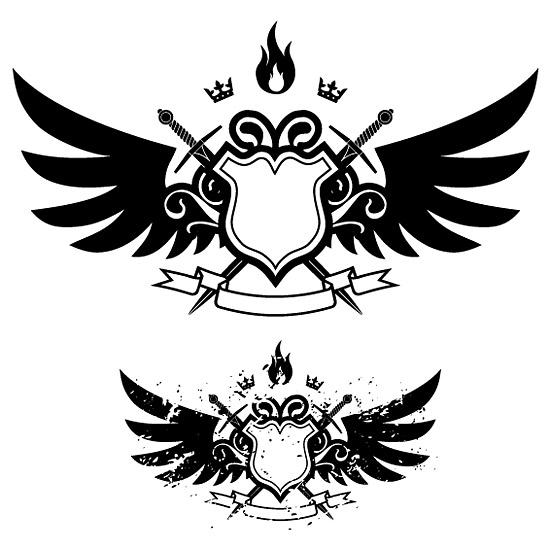 Крылья, щит, меч, огонь Портфолио