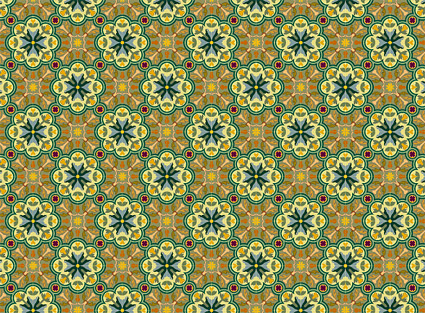 古典的なタイル パターン ベクトル-2