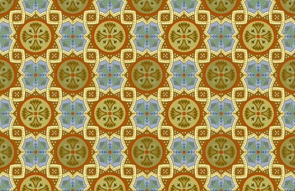 Azulejo clássico padrão vector-5