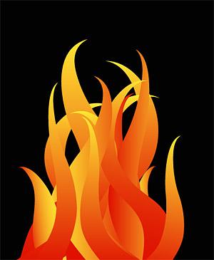 Прохладный логотип векторного материала пожарной