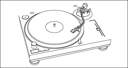 Kunststoff-Scheibe Spieler-Zeichnung-Vektor-material