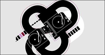 DJ-Musik-Vektor-material