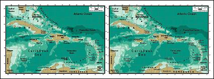 Mapa del vector del material exquisito mundo - el mapa de las Antillas