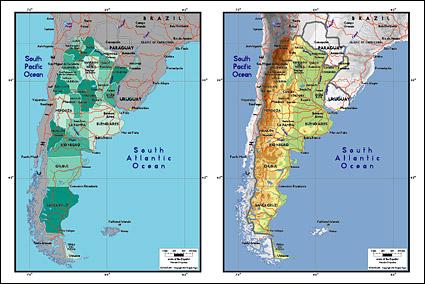 Carte de vecteur de la matière exquis de monde - carte d'Argentine