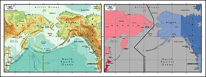 절묘 한 소재 세계-베링 해협 지도의 벡터 지도
