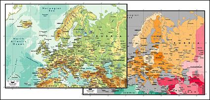Vektorkarte von die Welt exquisite Material - Europa-Karte