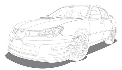 Dibujo de líneas de vehículos (coches)