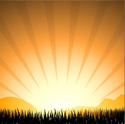 غروب الشمس الإشعاع الخفيفة
