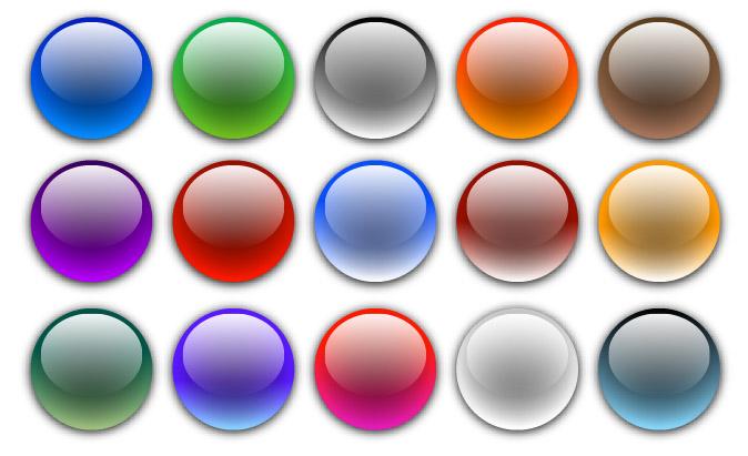 Elementos de diseño de página material vector - ronda la bola de cristal