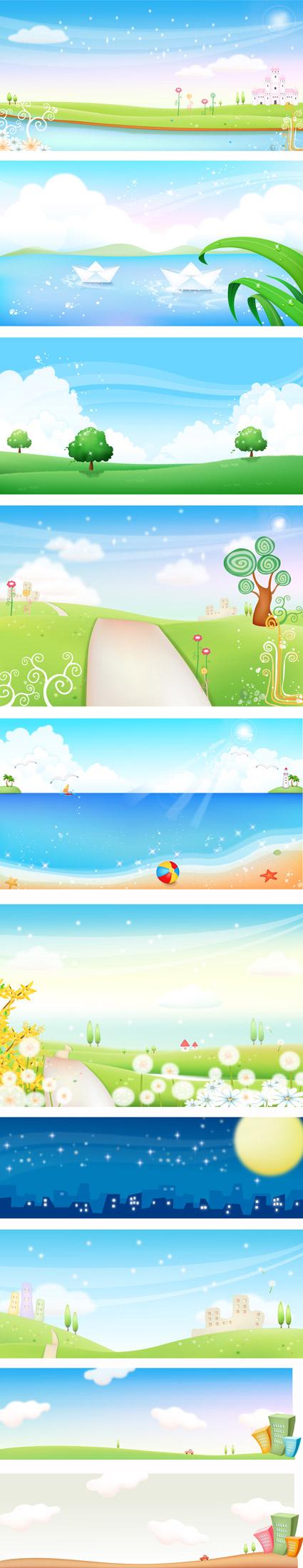 paisaje de primavera y verano