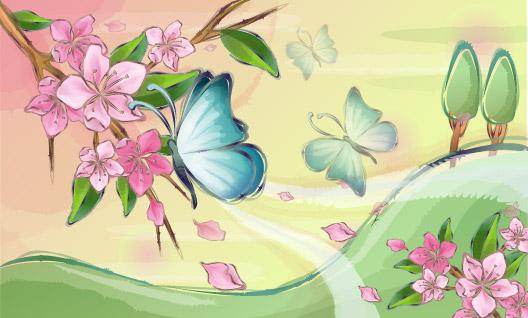 ผีเสื้อและดอกไม้
