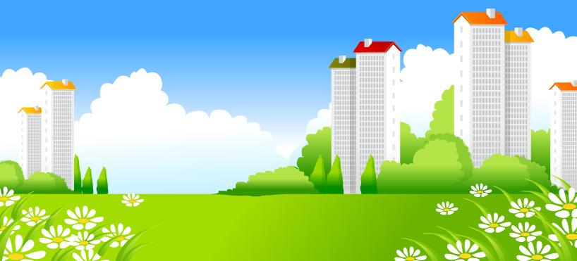 Vecteur de paysage magnifique ville -3