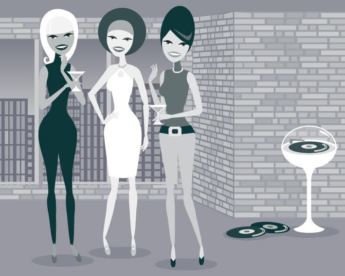 素材のファッションの女の子シリーズ eps をベクトルします。