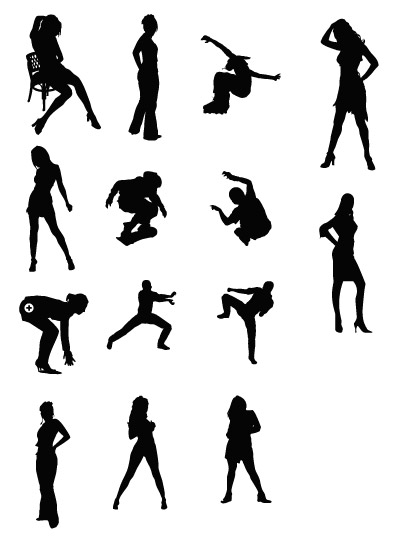 Mulheres e desporto figuras vetoriais