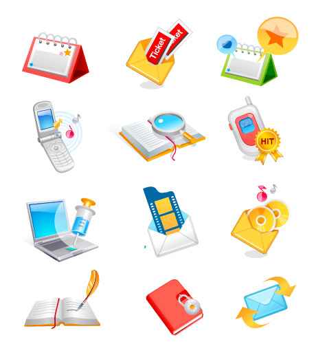 E-mail communications vector icon material