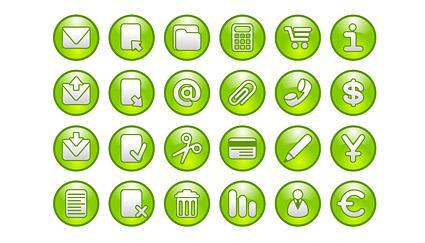 Общие зеленый циркуляр логотип