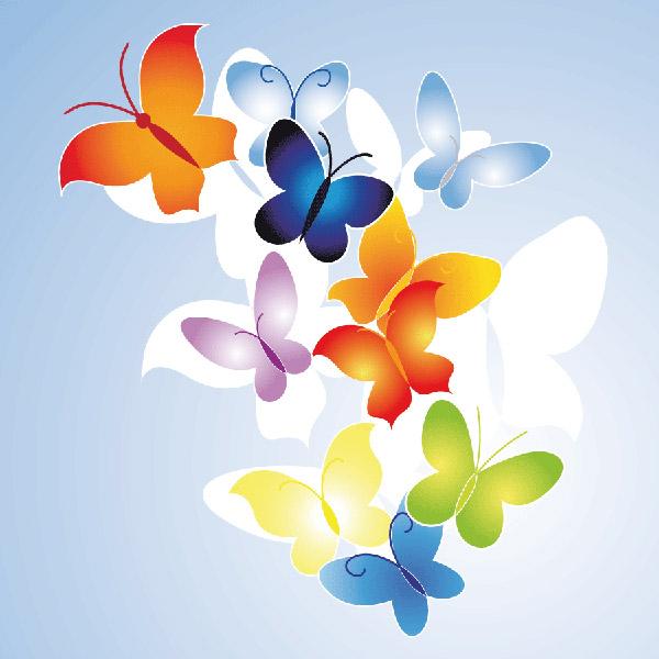 Logotipo de mariposa de vector de moda