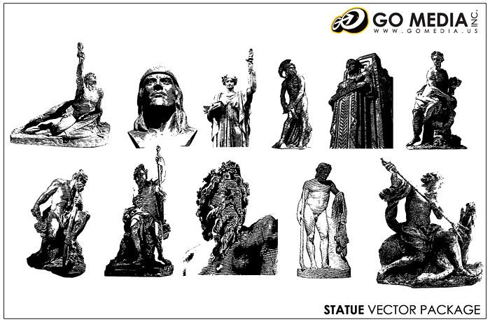 Перейти СМИ производится векторный материал - скульптуры