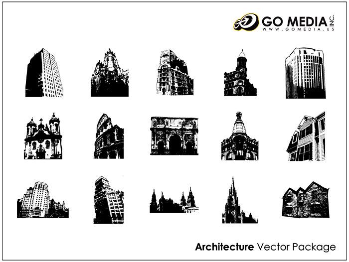 移動メディアの生産のベクター素材 - 大陸の古代建築