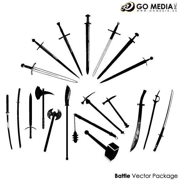 移動メディアの生産のベクター素材 - 古代の武器
