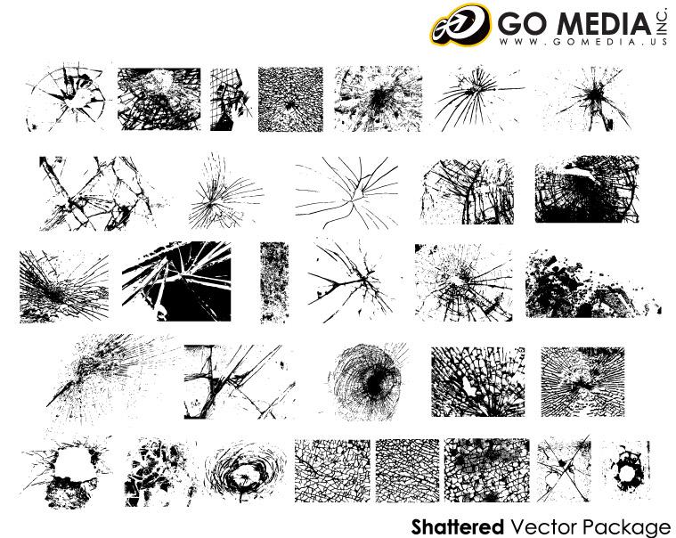 이동 미디어 생산 벡터 소재-유리 균열