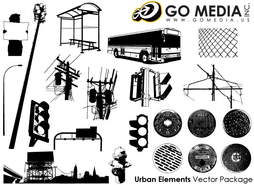 ไปที่สื่อที่ผลิตเวกเตอร์วัสดุ - เมืองสิ่งอำนวยความสะดวกสาธารณะ