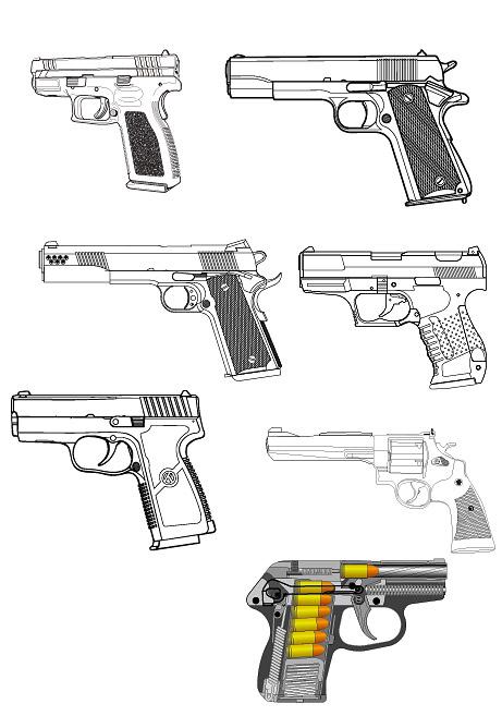 Связанных с военно - пистолет векторного материала