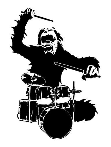 Baterista orangotango Vector