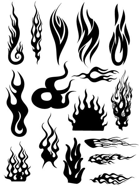 모든 종류의 멋진 화재 벡터 로고 (4)