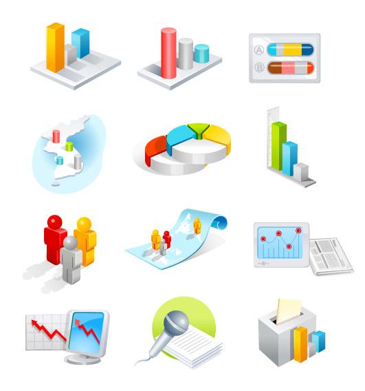 Ícone de análise de dados