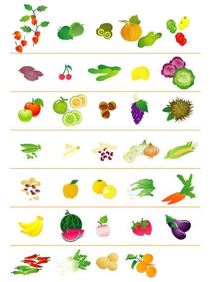 Frutas y hortalizas icono