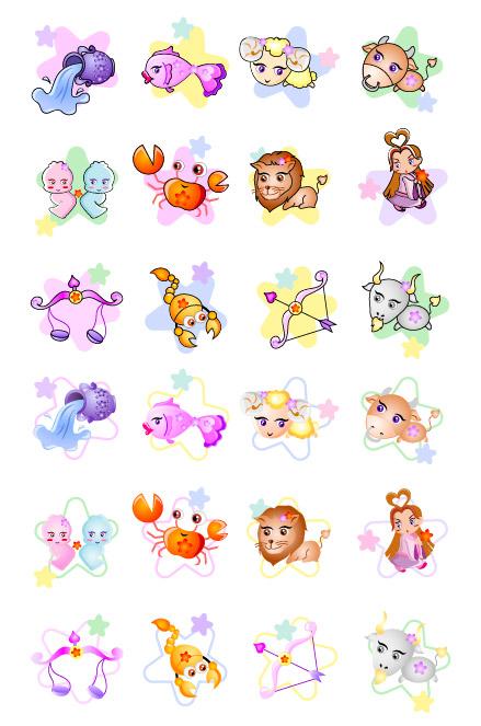 Icono de dibujos animados de constelación 12