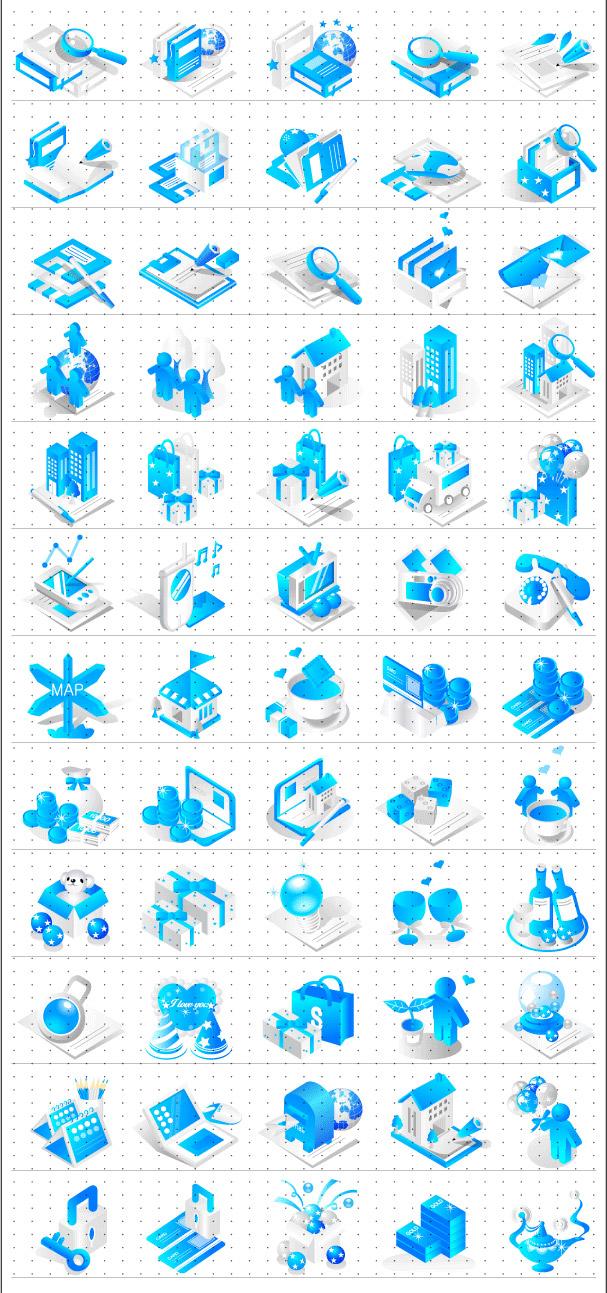 Icono azul de vectores