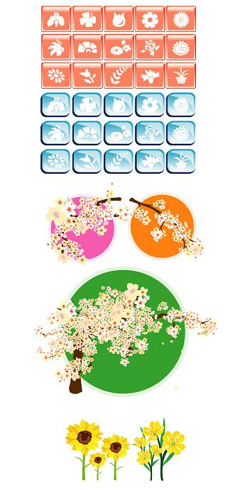 Icône de vecteur pour le thème floral
