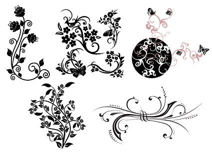 蝶のつるの実用的なパターン
