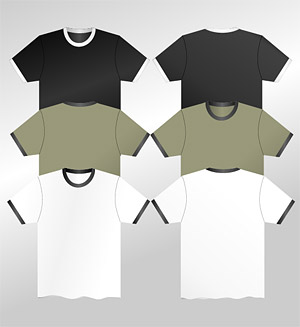 T-T-셔츠 소재 벡터