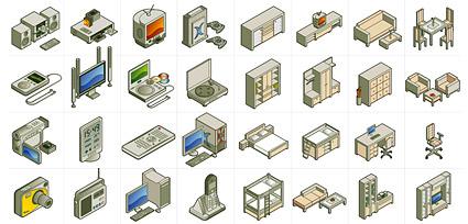 2D perabot dan peralatan listrik