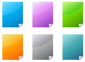Угловая web 2.0 стиль бумага