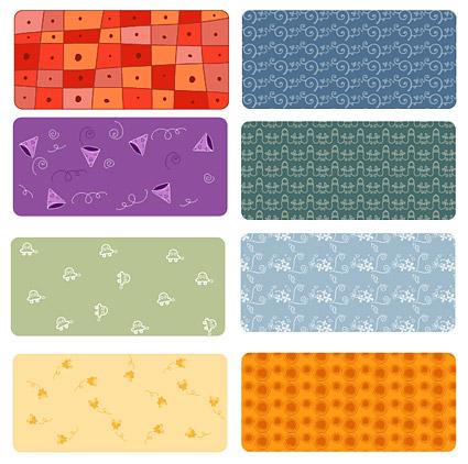 Material de vector de mosaico fondo hermoso patrón