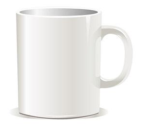 เวกเตอร์วัสดุสีขาวกาแฟ mug