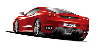フェラーリのスポーツカー