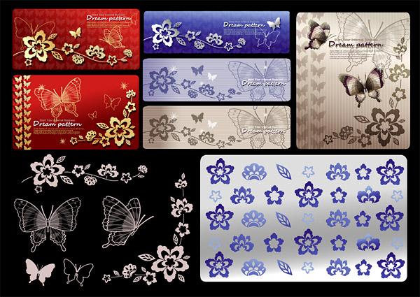 Patrones de mariposa y diseños