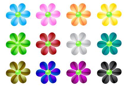 AI formato, palabra clave: pequeñas flores, web 2.0 estilo ...