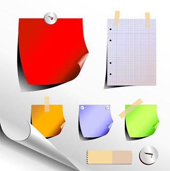 Notas de papel de Oficina de vectores de material