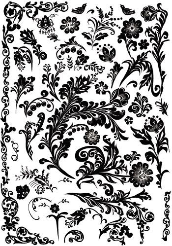 Несколько практических необработанных черно-белый узор
