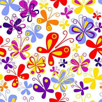 Fondo de coloridas mariposas