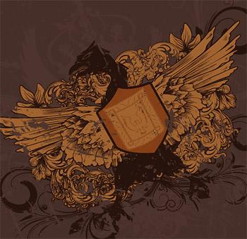 Nostalgia de eagle y escudo continental