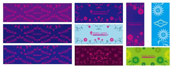Exquisitos patrones decorativos de vectores de material